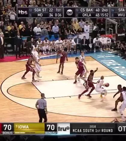 WATCH: Iowa advances in NCAA Tournament on Woodbury buzzer-beater